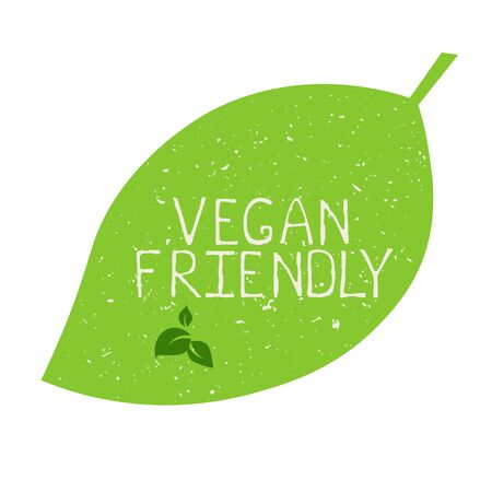 Vegan friendly label and high quality product badges. Bio Home made food Organic product Pure healthy Eco food organic, bio and natural product icon. Emblems for cafe, packaging Foto de archivo - 131706402