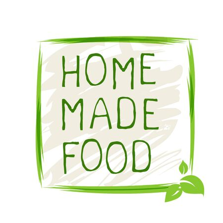 Home made food label and high quality product badges. Bio Organic product Pure healthy Eco food organic, bio and natural product icon. Emblems for cafe, packaging Foto de archivo - 131706408