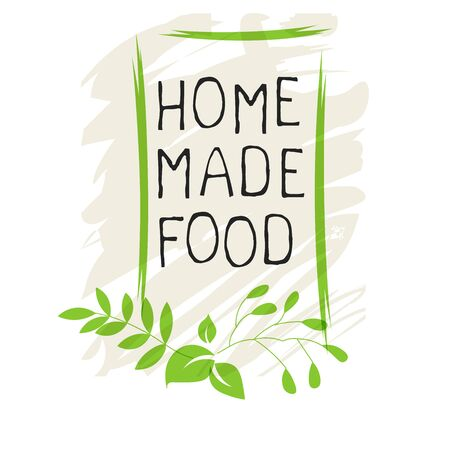 Home made food label and high quality product badges. Bio Organic product Pure healthy Eco food organic, bio and natural product icon. Emblems for cafe, packaging etc. Vector Foto de archivo - 136244631