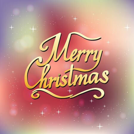 Merry christmas text vector on white background. Lettering for invitation, wedding and greeting card, prints and posters. Hand drawn inscription 矢量图像