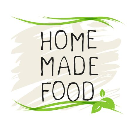 Home made food label and high quality product badges. Bio Organic product Pure healthy Eco food organic, bio and natural product icon. Emblems for cafe, packaging etc. Vector Foto de archivo - 136319013