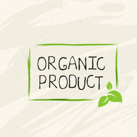 Organic product label and high quality product badges. Bio Pure healthy Eco food organic, bio and natural product icon. Emblems for cafe, packaging etc. Vector Foto de archivo - 136319014