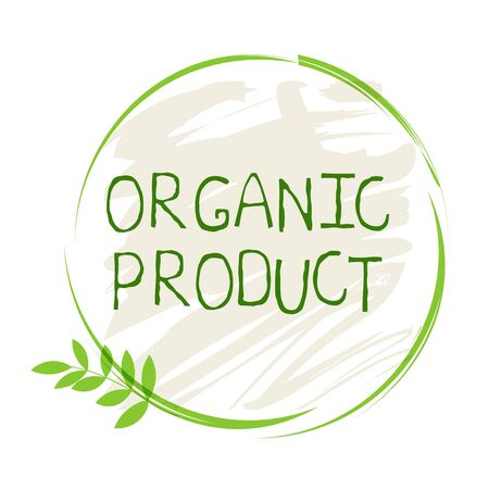 Organic product label and high quality product badges. Bio Pure healthy Eco food organic, bio and natural product icon. Emblems for cafe, packaging Foto de archivo - 136244896