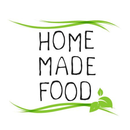 Home made food label and high quality product badges. 矢量图像