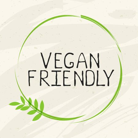 Vegan friendly label and high quality product badges.