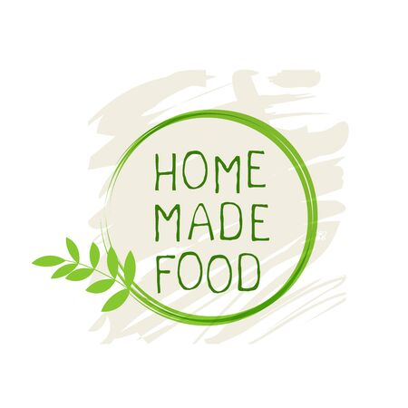 Home made food label and high quality product badges. Bio Organic product Pure healthy Eco food organic, bio and natural product icon. Emblems for cafe, packaging etc. Vector Illustration