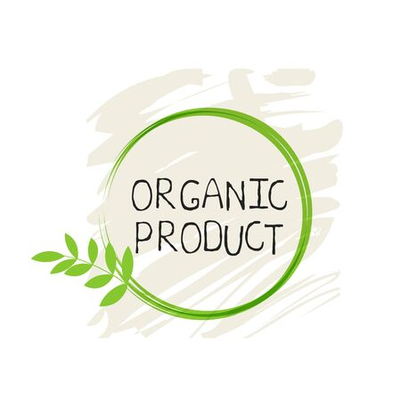 Organic product label and high quality product badges. Bio Pure healthy Eco food organic, bio and natural product icon. Emblems for cafe, packaging etc. Vector