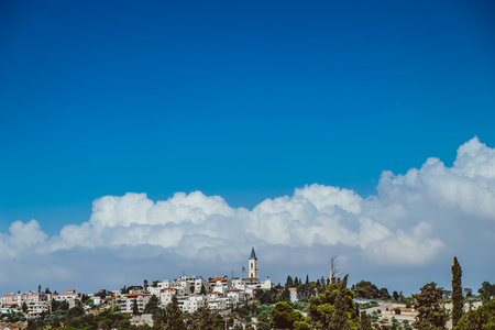 View of the Temple Mount in Jerusalem - Israel Stock Photo