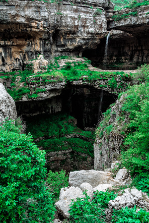Balou Balaa waterfall (Baatara Gorge Waterfall), Tannourine, Lebanon, Middle East