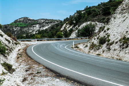 Innovation Project for the development of industrial areas - new road and afforestation of old quarry in the mountains of Cyprus Reklamní fotografie