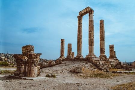 Temple of Hercules of the Amman Citadel complex Jabal al-Qal'a, Amman, Jordan.
