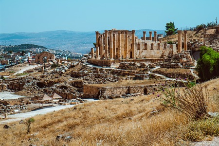 Ancient Jerash ruins, the Roman ancient city of Geraza, Jordan