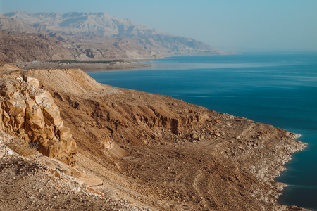 red hills next Dead sea. Jordan