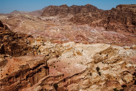 Petra, Jordan-- it is a symbol of Jordan, as well as Jordans most-visited tourist attraction. Petra has been a UNESCO World Heritage Site since 1985 Banco de Imagens