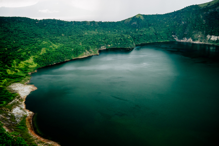 Lake inside Taal volcano near Manila, Philippines