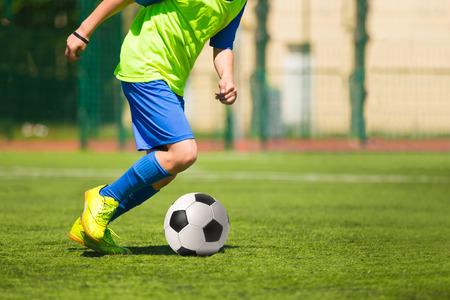 Voetbal wedstrijd spel. Training en voetbal voetbaltoernooi Stockfoto - 50562575