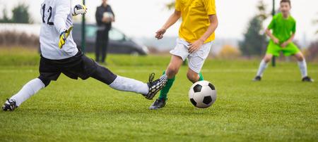 striker: tricky goalkeeper save and striker drible
