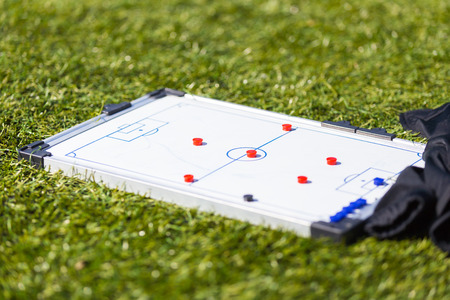 Football Soccer training tactic strategy board Stock fotó