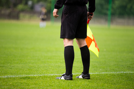 offside: soccer referee guardalinee arbiter assistant