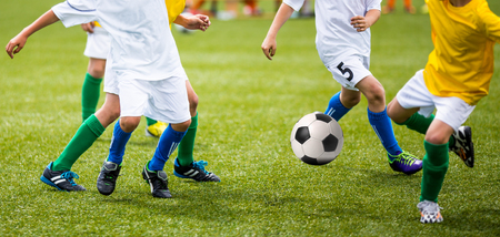 Football soccer training match for children