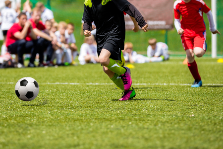 sports and recreation: Football match for children. Training and football soccer tournament