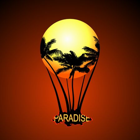pacification: Paradise Balloon. Vector