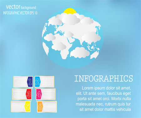 page layout: colorful info graphics world map for your business presentations.