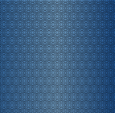decorative wallpaper: Vector decorative ornamental background-Blue Illustration