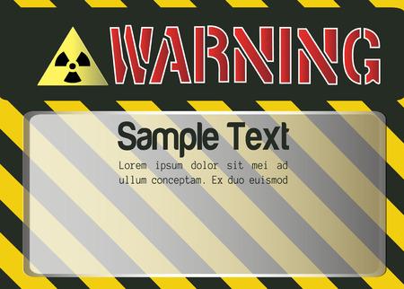 hazard stripes: Blank Warning Sign vector background