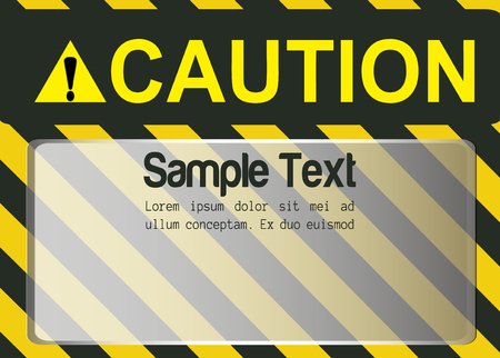 Blank Caution Sign vector background