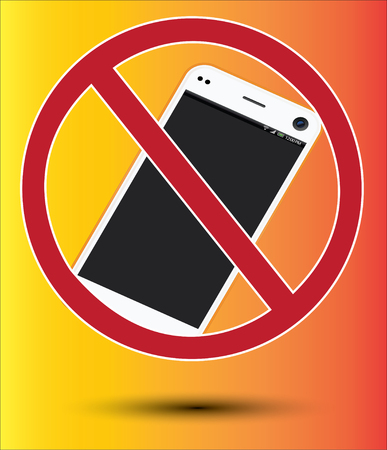 banning: Signs banning mobile phone use.