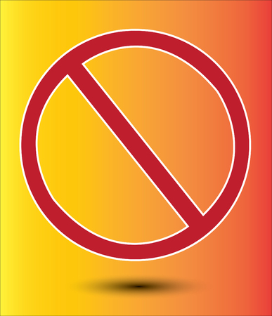 prohibiting: Signs prohibiting vector background