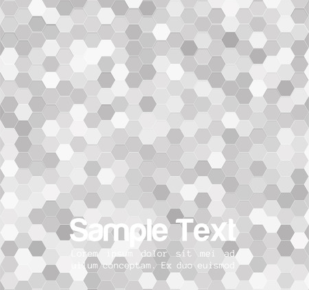 Black and White background hexagons.