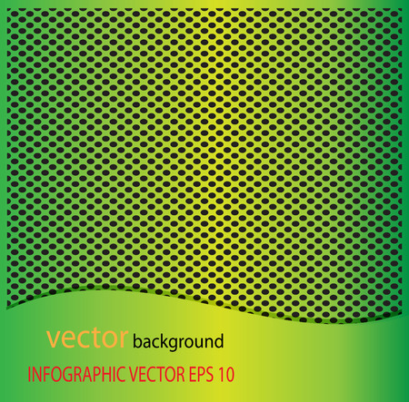 Metal Green dot perforated texture. Background with chrome metal strip  vector background Illustration