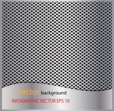 Metal silver perforated texture. Background with chrome metal strip  vector background Illustration