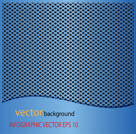 blue metal: Metal Blue dot perforated texture. Background with chrome metal strip  vector background Illustration