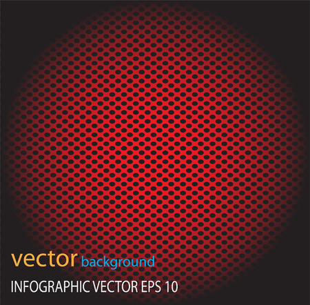 perforated: Metal dot perforated texture abstract vector background-Red
