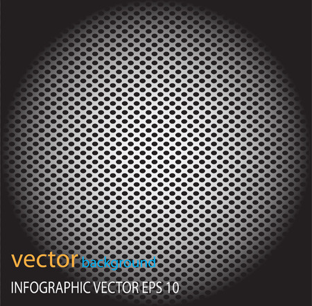 perforated: Metal dot perforated texture abstract vector background-silver Illustration