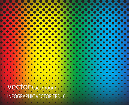 Metal dot perforated texture abstract vector background-colorful