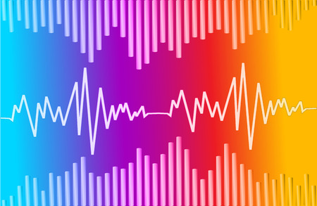 vibrations: sound wave colorful abstract vector background