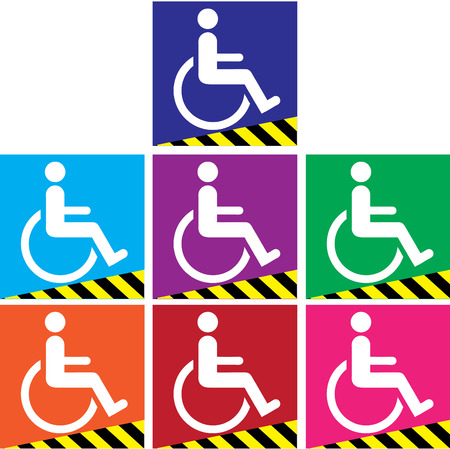 ramps: Signs ramps for the disabled. Illustration