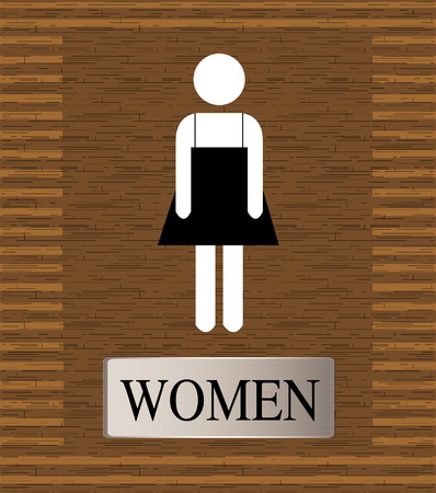 wc sign: toilets WC sign for men on wooden Vector background