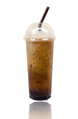 fredo: Ice coffee isolate on white background.