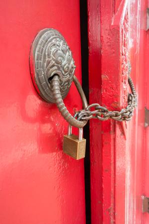 locked: Locked red door