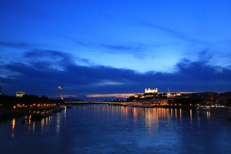 Bratislava on sunset