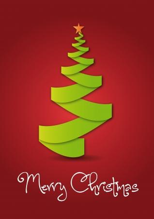 Green christmas tree Vector