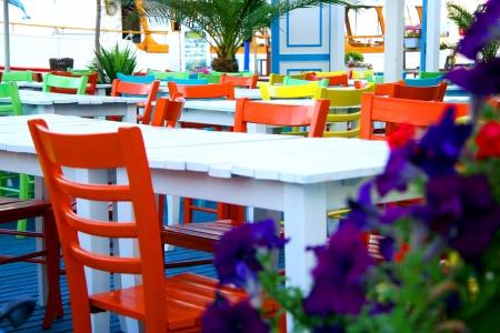 Atmospherics colorful restaurant