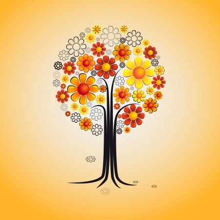 Abstract tree drawing Vector