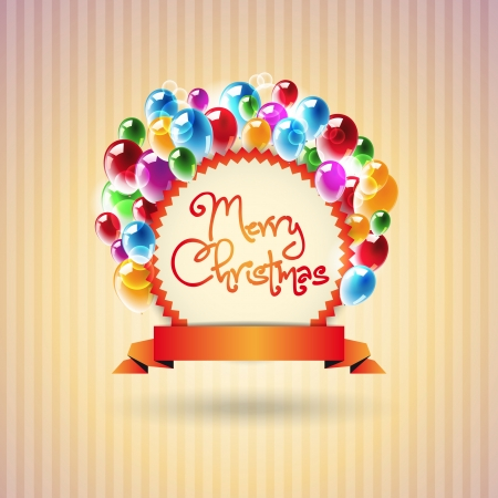Merry Christmas - Congratulation vector poster photo