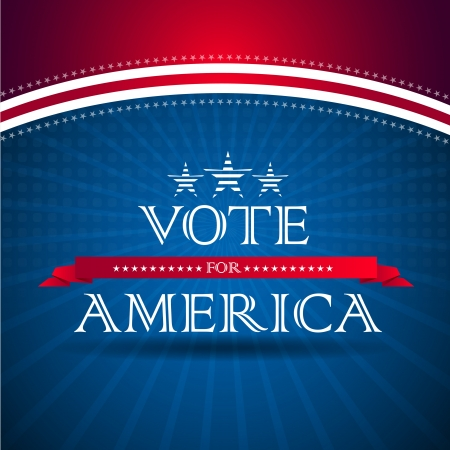 Vote for America - election poster photo
